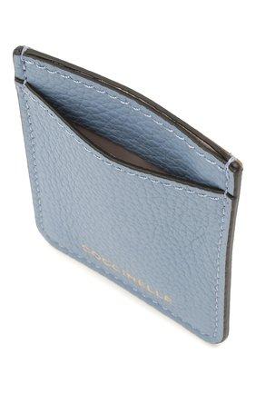 Женский кожаный футляр для кредитных карт COCCINELLE голубого цвета, арт. E2 HZ4 42 A0 01   Фото 2