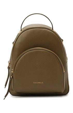 Женский рюкзак lea COCCINELLE хаки цвета, арт. E1 H60 14 01 01 | Фото 1