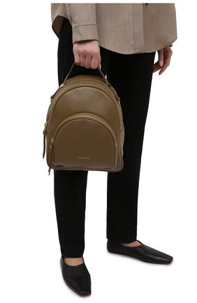 Женский рюкзак lea COCCINELLE хаки цвета, арт. E1 H60 14 01 01 | Фото 2