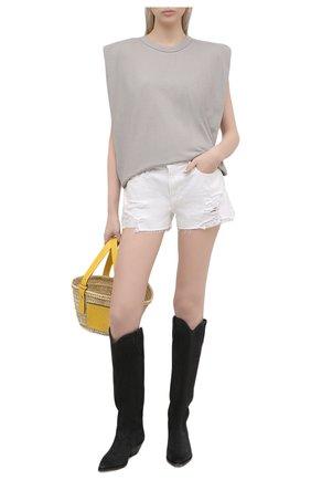 Женские джинсовые шорты FRAME DENIM белого цвета, арт. LGGSHRA171   Фото 2