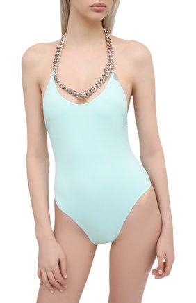 Женский слитный купальник STELLA MCCARTNEY голубого цвета, арт. S7BG81210 | Фото 2
