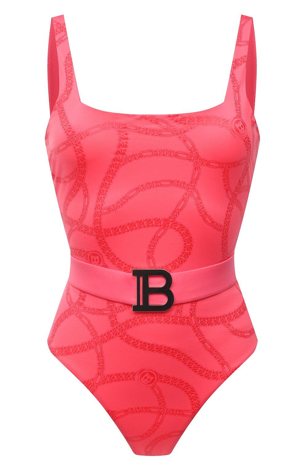 Женский слитный купальник BALMAIN розового цвета, арт. BKBUZ0360 | Фото 1