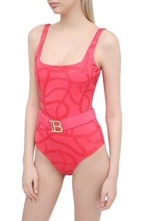 Женский слитный купальник BALMAIN розового цвета, арт. BKBUZ0360 | Фото 2