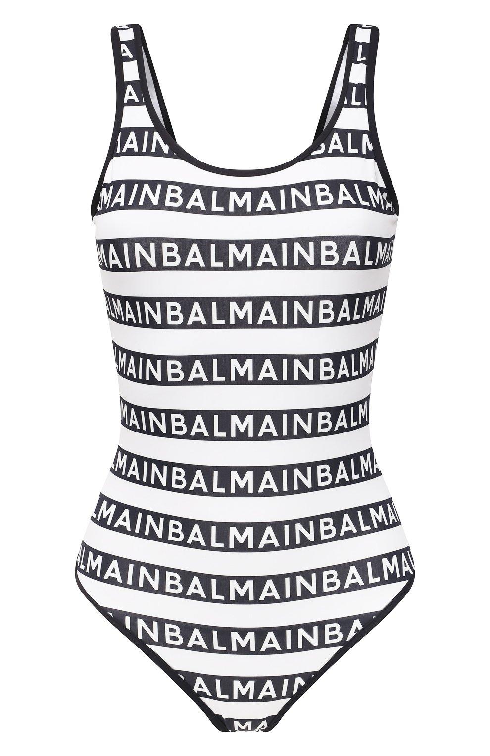 Женский слитный купальник BALMAIN черно-белого цвета, арт. BKBU00220   Фото 1