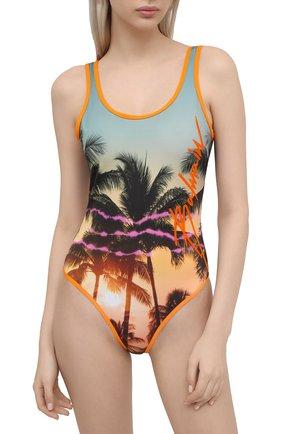 Женский слитный купальник BALMAIN оранжевого цвета, арт. BKBGA0290 | Фото 2