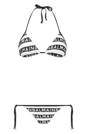 Женский раздельный купальник BALMAIN черно-белого цвета, арт. BKB810220 | Фото 1