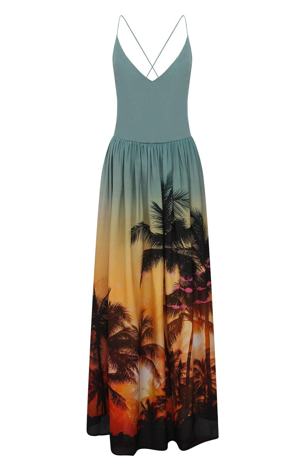 Женское шелковое платье BALMAIN разноцветного цвета, арт. BKAF00410 | Фото 1