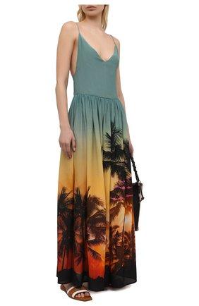 Женское шелковое платье BALMAIN разноцветного цвета, арт. BKAF00410 | Фото 2