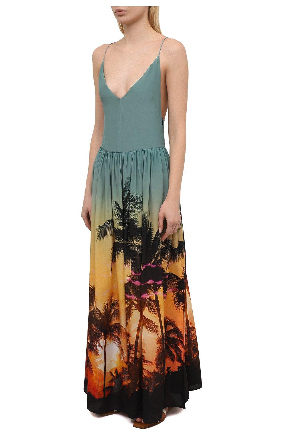 Женское шелковое платье BALMAIN разноцветного цвета, арт. BKAF00410 | Фото 3