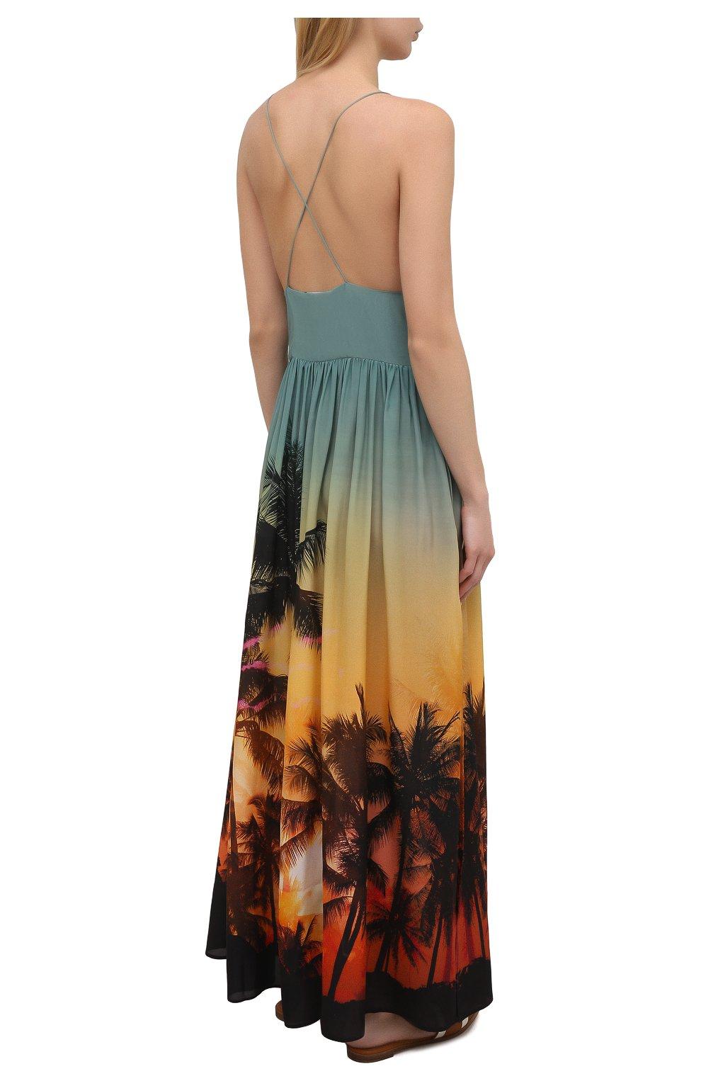 Женское шелковое платье BALMAIN разноцветного цвета, арт. BKAF00410 | Фото 4