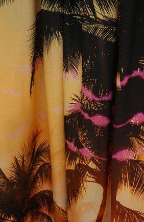 Женское шелковое платье BALMAIN разноцветного цвета, арт. BKAF00410 | Фото 5