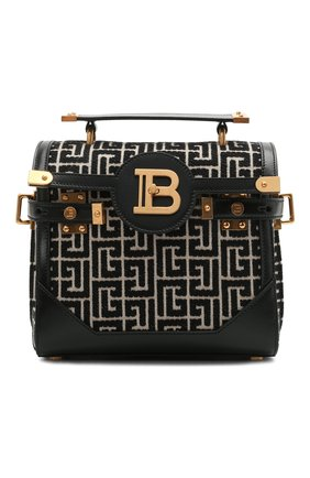 Женская сумка bbuzz 23 BALMAIN черно-белого цвета, арт. VN0DB599/TJGH | Фото 1