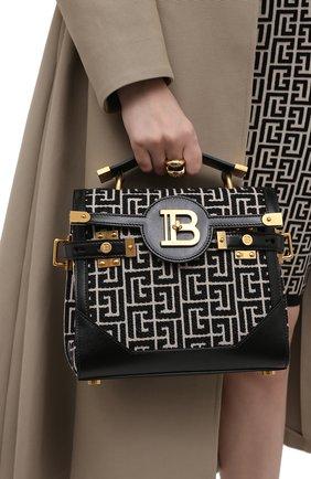 Женская сумка bbuzz 23 BALMAIN черно-белого цвета, арт. VN0DB599/TJGH | Фото 2
