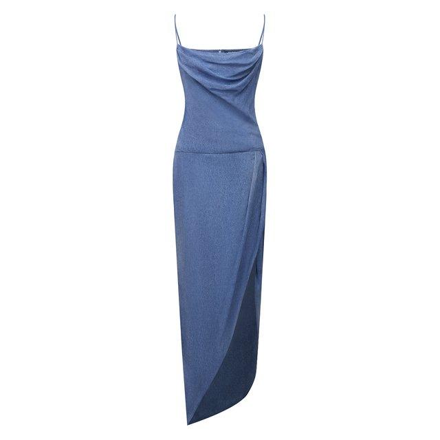 Шелковое платье Balmain