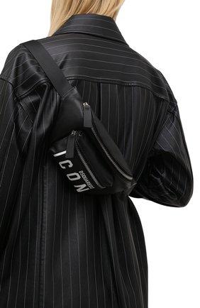Женская поясная сумка DSQUARED2 черного цвета, арт. BBW0029 25103905 | Фото 2