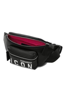 Женская поясная сумка DSQUARED2 черного цвета, арт. BBW0029 25103905 | Фото 4