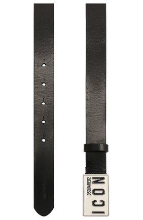 Женский кожаный ремень DSQUARED2 черного цвета, арт. BEW0239 12900001 | Фото 2