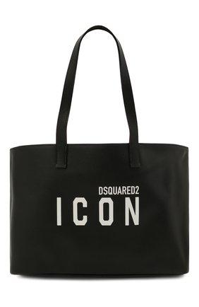 Женский сумка-шопер DSQUARED2 черного цвета, арт. SPW0040 25103905 | Фото 1