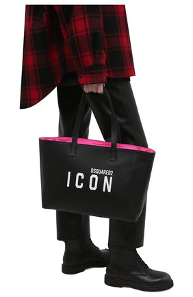 Женский сумка-шопер DSQUARED2 черного цвета, арт. SPW0040 25103905 | Фото 2