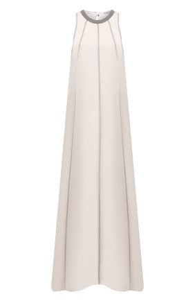 Женское шелковое платье BRUNELLO CUCINELLI бежевого цвета, арт. MF940ADR21 | Фото 1