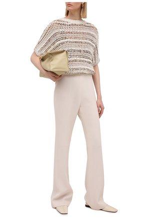 Женский хлопковый пуловер BRUNELLO CUCINELLI бежевого цвета, арт. MAF330200 | Фото 2