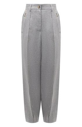 Женские льняные брюки GIORGIO ARMANI серого цвета, арт. 1SHPP0HB/T02A6 | Фото 1