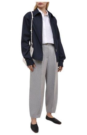 Женские льняные брюки GIORGIO ARMANI серого цвета, арт. 1SHPP0HB/T02A6 | Фото 2