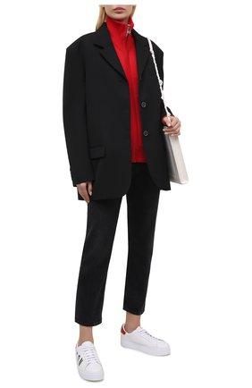 Женские кожаные кеды DSQUARED2 белого цвета, арт. SNW0008 01502228 | Фото 2
