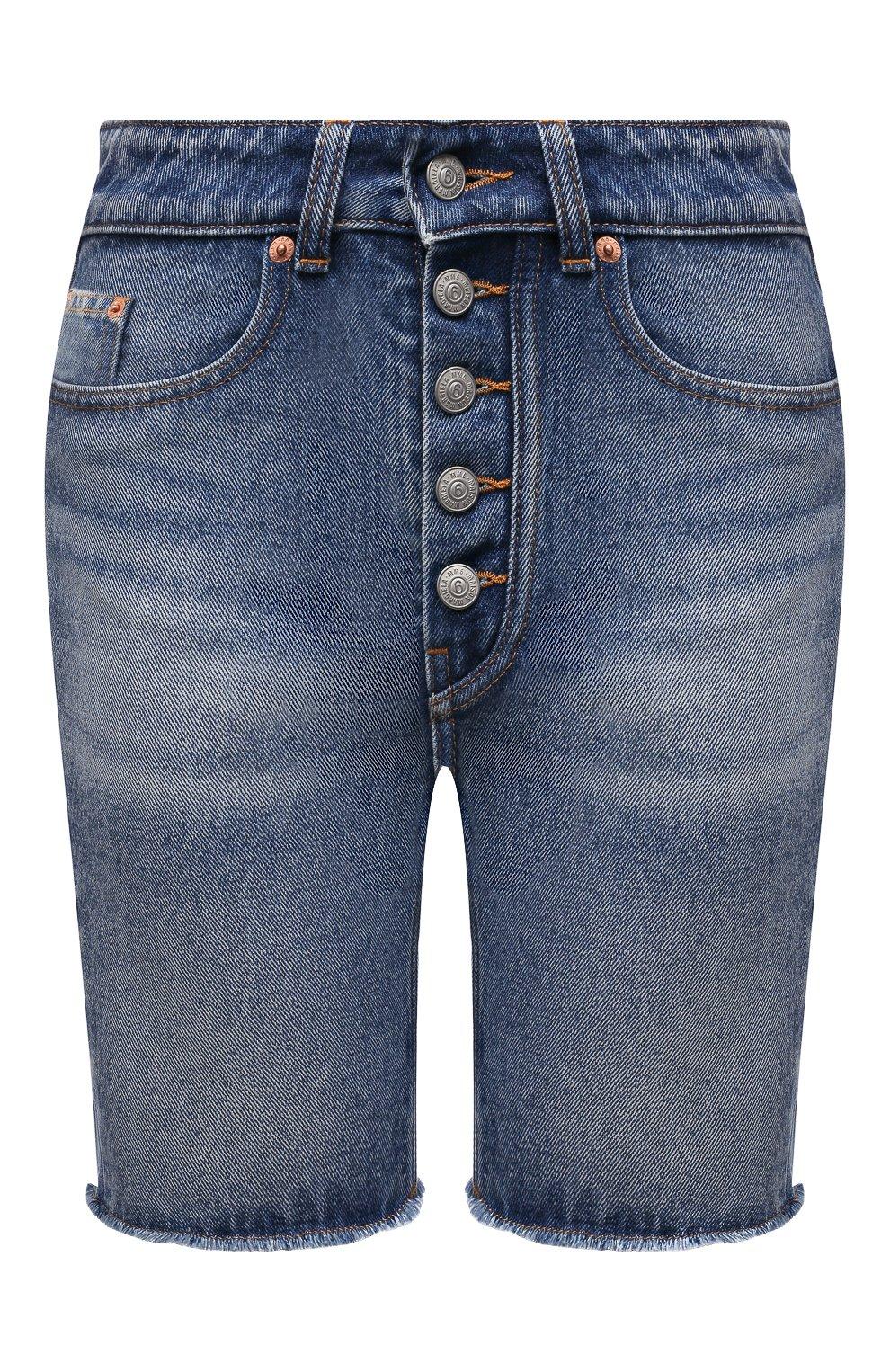 Женские джинсовые шорты MM6 синего цвета, арт. S62MU0030/S30589   Фото 1