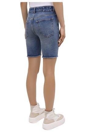 Женские джинсовые шорты MM6 синего цвета, арт. S62MU0030/S30589   Фото 4
