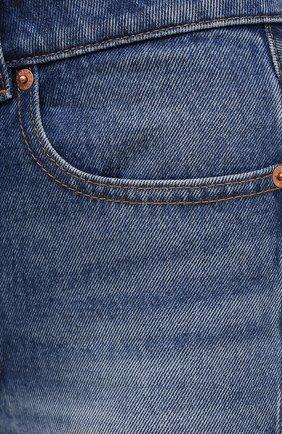 Женские джинсовые шорты MM6 синего цвета, арт. S62MU0030/S30589   Фото 5