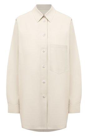 Женская кожаная рубашка YVES SALOMON светло-бежевого цвета, арт. 21WYH20980APXX | Фото 1