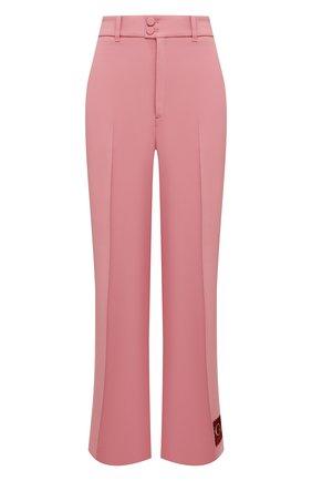 Женские брюки из вискозы GUCCI розового цвета, арт. 622206/ZKR01   Фото 1