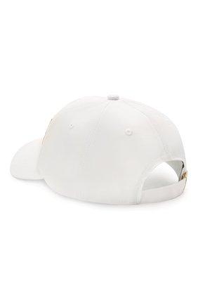 Женская хлопковая бейсболка VERSACE JEANS COUTURE белого цвета, арт. E8VWAK10-LINEA W0MAN CAP DIS. 3/85075 | Фото 2