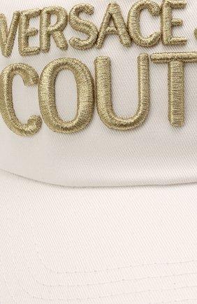Женская хлопковая бейсболка VERSACE JEANS COUTURE белого цвета, арт. E8VWAK10-LINEA W0MAN CAP DIS. 3/85075 | Фото 3