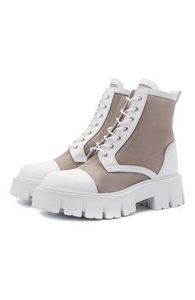 Женские комбинированные ботинки PREMIATA белого цвета, арт. M6037/GAUCH0 | Фото 1