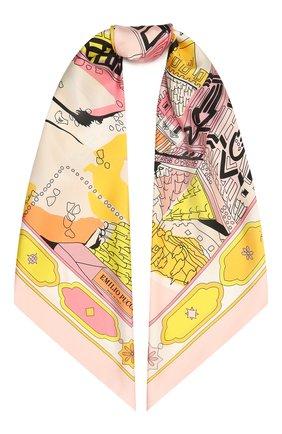 Женский шелковый платок EMILIO PUCCI светло-розового цвета, арт. 1EGB12/1EB12 | Фото 1