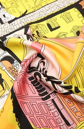 Женский шелковый платок EMILIO PUCCI светло-розового цвета, арт. 1EGB12/1EB12 | Фото 2