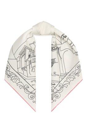 Женский шелковый платок EMILIO PUCCI белого цвета, арт. 1EGB20/1ES20 | Фото 1