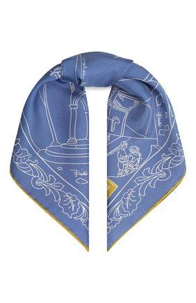 Женский шелковый платок EMILIO PUCCI светло-голубого цвета, арт. 1EGB20/1ES20   Фото 1