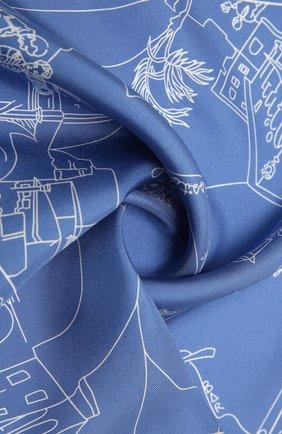 Женский шелковый платок EMILIO PUCCI светло-голубого цвета, арт. 1EGB20/1ES20   Фото 2
