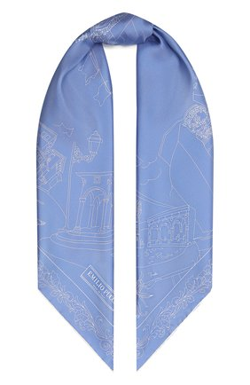 Женский шелковый платок EMILIO PUCCI светло-голубого цвета, арт. 1EGB22/1ES22   Фото 1