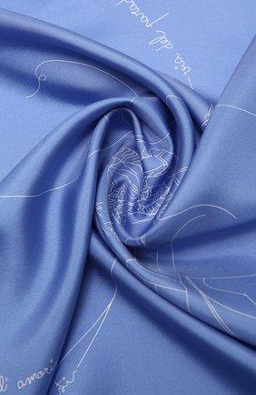 Женский шелковый платок EMILIO PUCCI светло-голубого цвета, арт. 1EGB22/1ES22   Фото 2