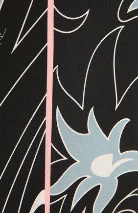 Женский шелковый шарф-бандо EMILIO PUCCI светло-голубого цвета, арт. 1EGB34/1ED34 | Фото 2