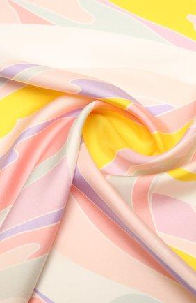 Женский шелковый платок EMILIO PUCCI желтого цвета, арт. 1EGB42/1EV42 | Фото 2