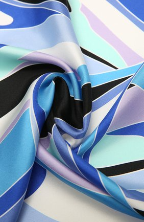 Женский шелковый платок EMILIO PUCCI синего цвета, арт. 1EGB42/1EV42 | Фото 2