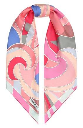 Женский шелковый платок EMILIO PUCCI розового цвета, арт. 1EGB52/1EQ52 | Фото 1