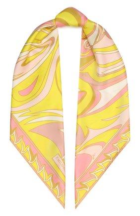 Женский шелковый платок EMILIO PUCCI светло-розового цвета, арт. 1EGB62/1ET62 | Фото 1