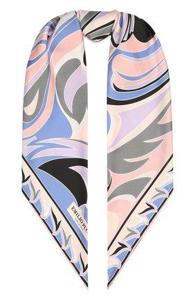 Женский шелковый платок EMILIO PUCCI сиреневого цвета, арт. 1EGB62/1ET62 | Фото 1