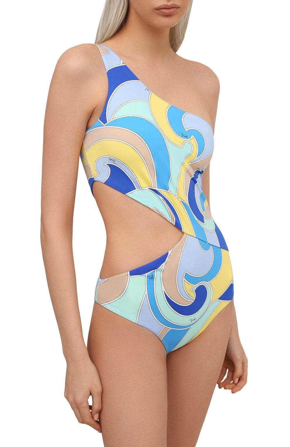 Женский слитный купальник EMILIO PUCCI голубого цвета, арт. 1EMC05/1E787 | Фото 2